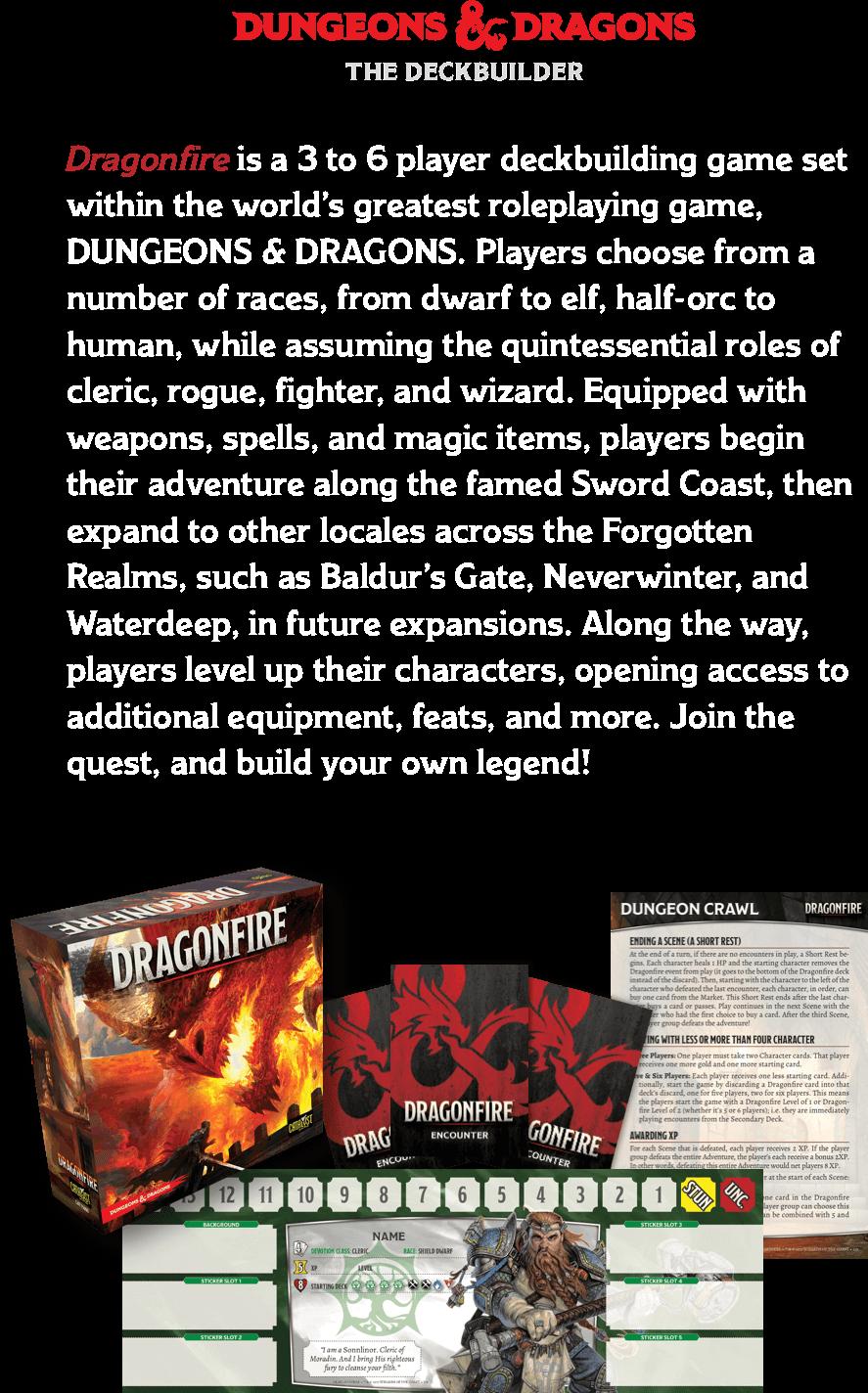 DUNGEONS & DRAGONS Dragonfire deckbuilding game