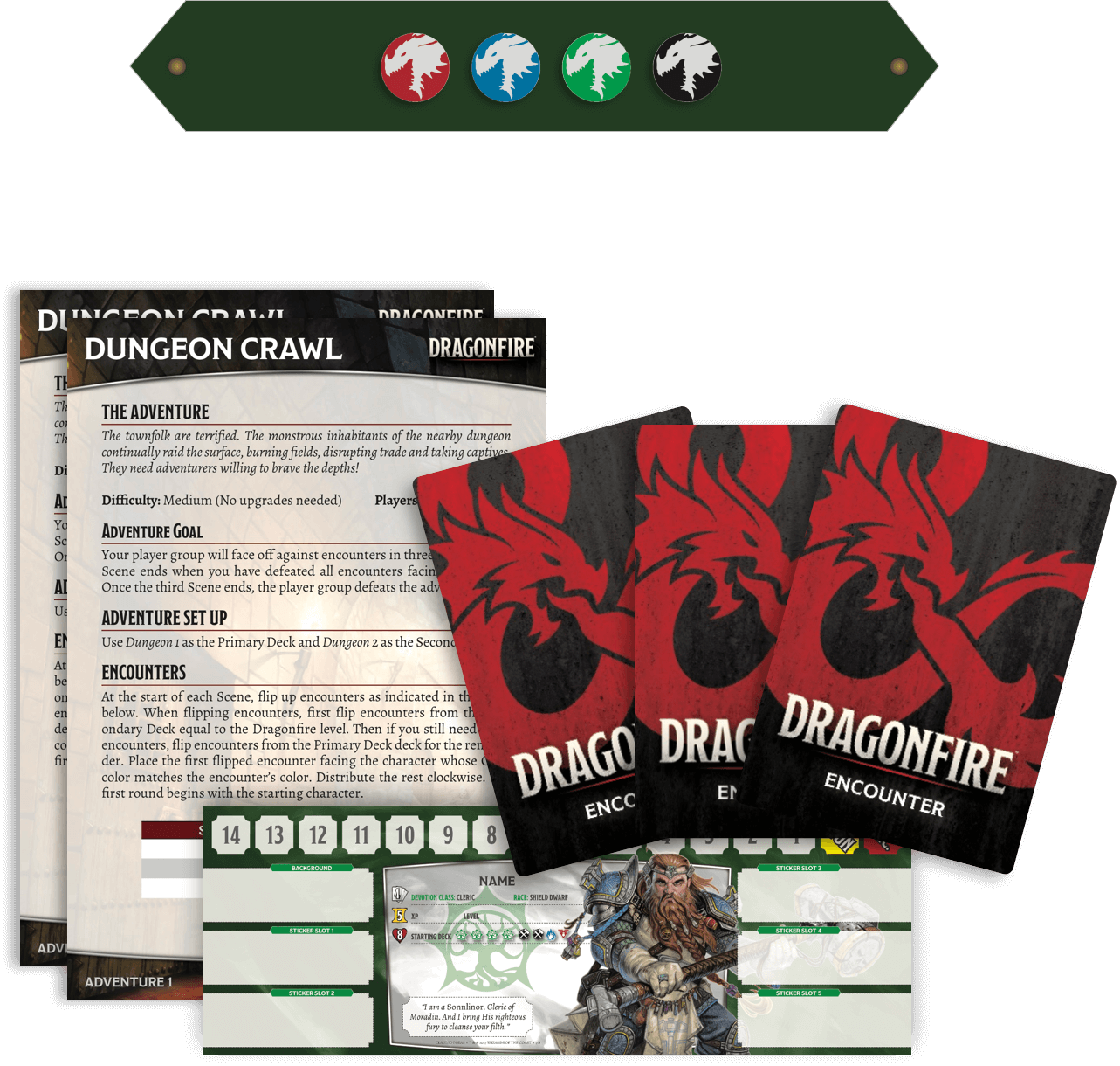 DUNGEONS & DRAGONS Dragonfire deckbuilding game